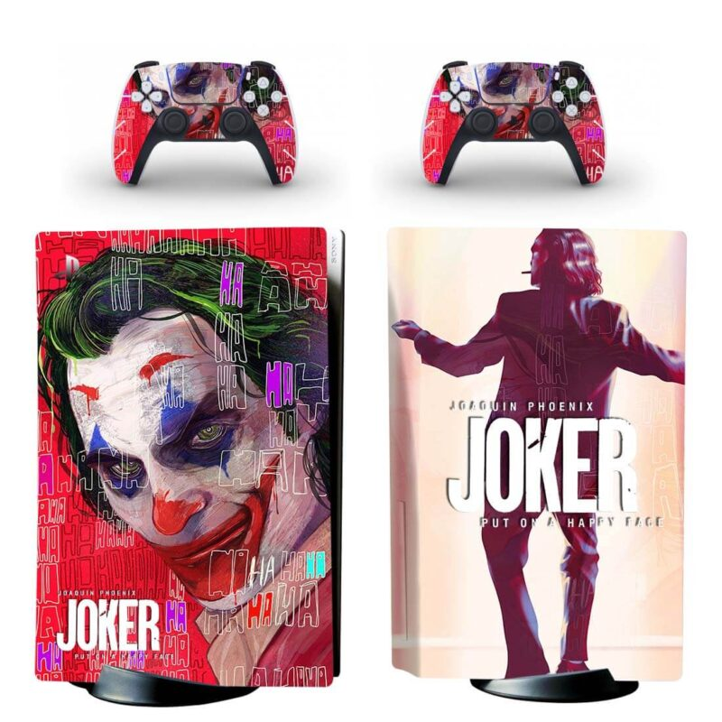 The Joker Movie Put On A Happy Face Red PS5 Disk Cover