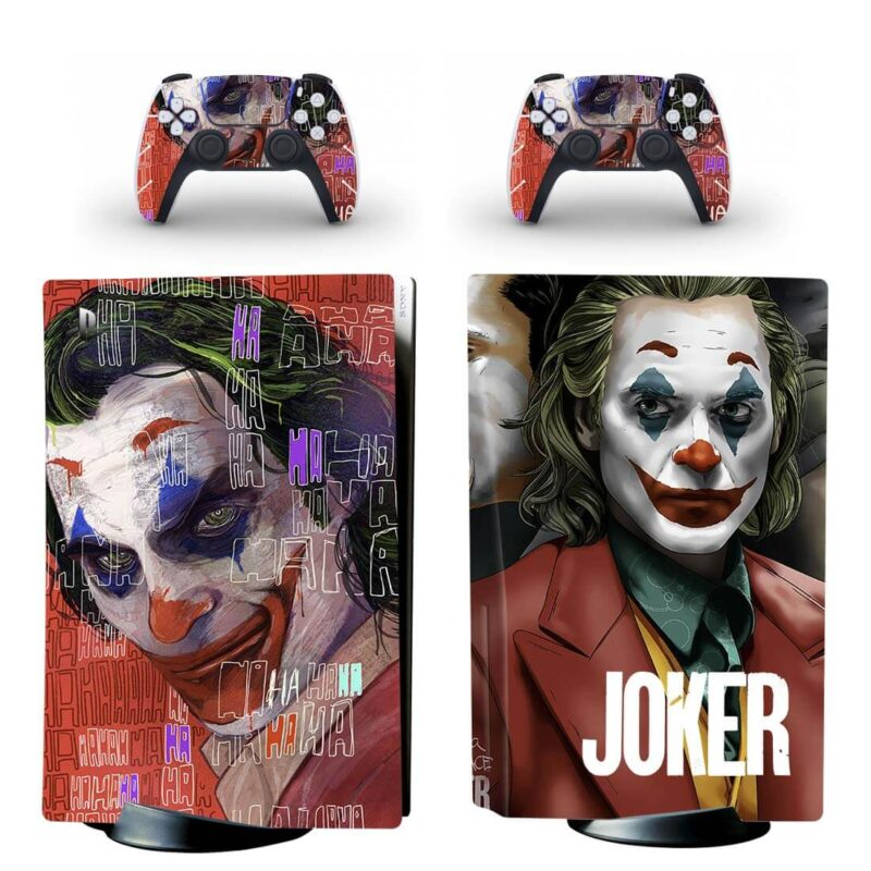 The Joker Movie Laughing Art Red Design PS5 Disk Wrap