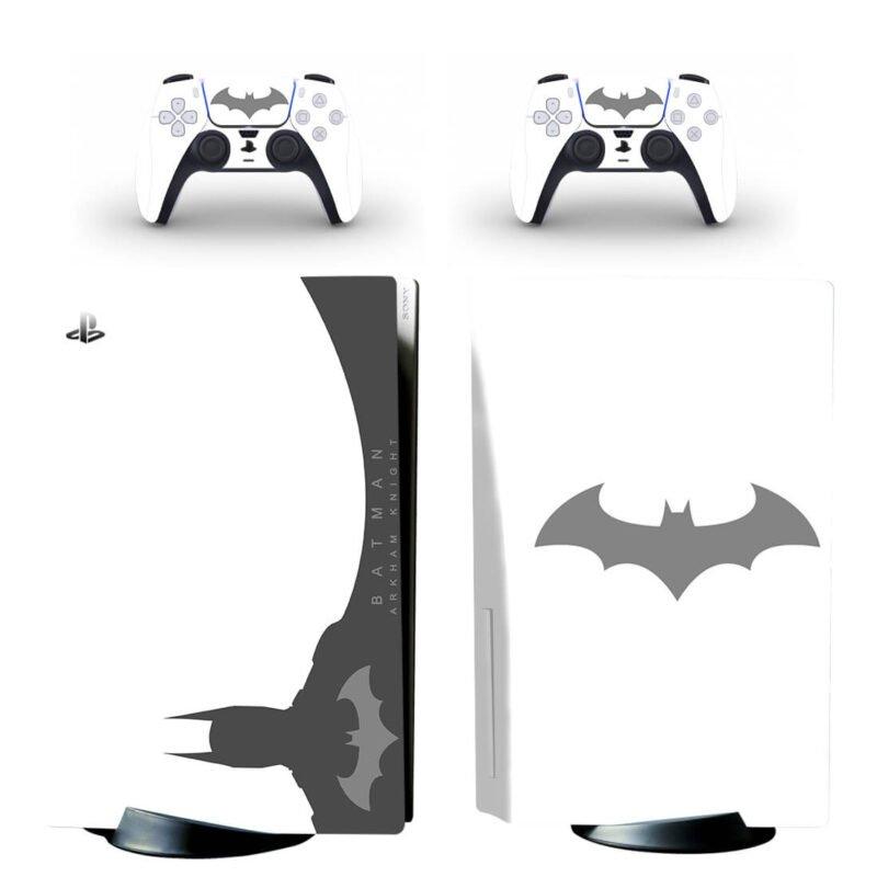 Batman Arkham Knight White Minimalist PS5 Disk Decal Cover