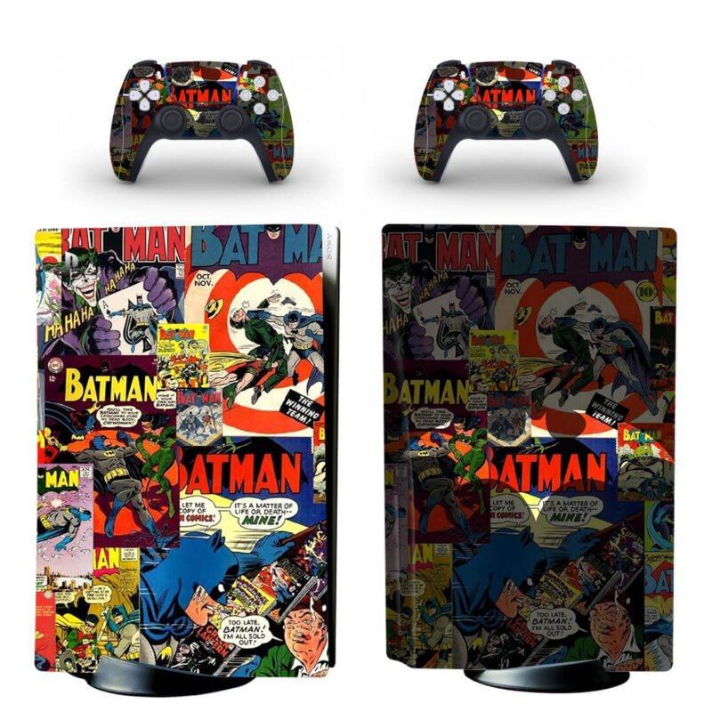 Batman Aesthetic Pop Art Comics PS5 Disk Decal Cover