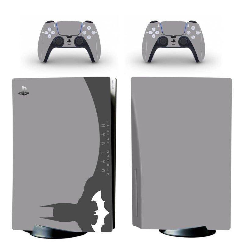 Batman Arkham Knight Simple Gray Design PS5 Disk Decal
