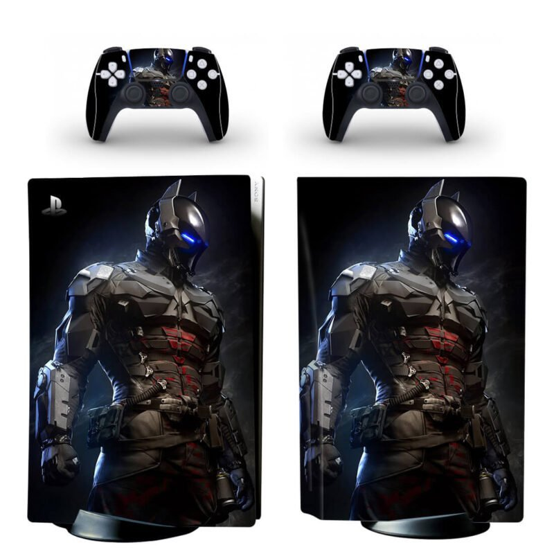 Batman Arkham Knight Combat Armor Black PS5 Disk Skin