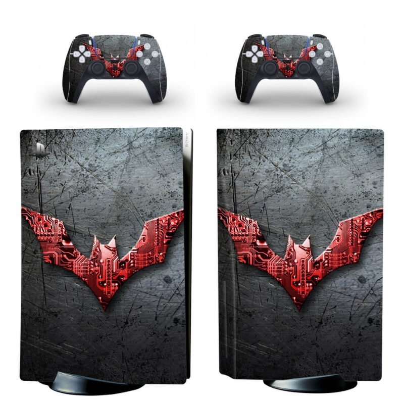 Batman Beyond Red & Silver Cool PS5 Disk Decal Cover