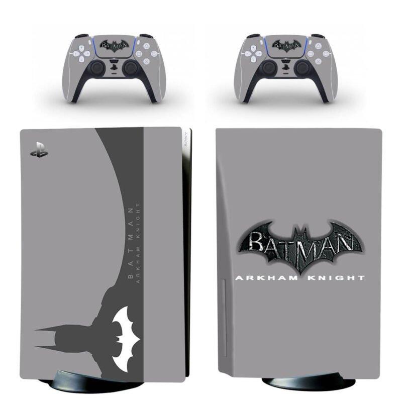 Batman Arkham Knight Minimalist Gray Design PS5 Disk Cover