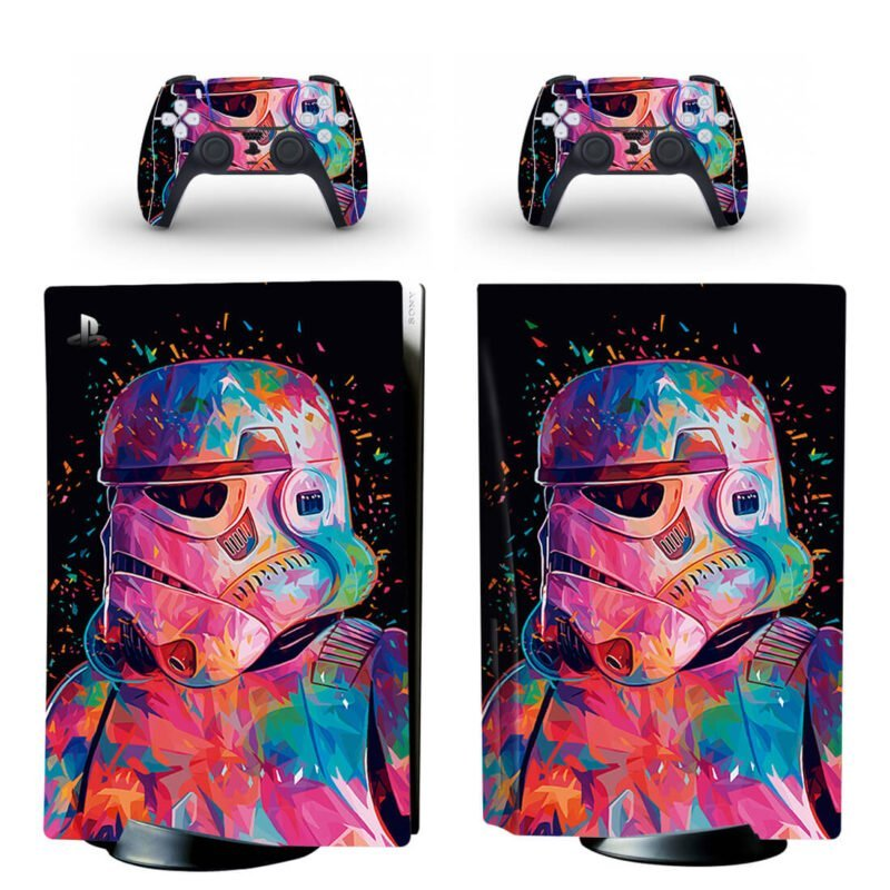 Star Wars Dope Storm Trooper Art PS5 Disk Decal Cover