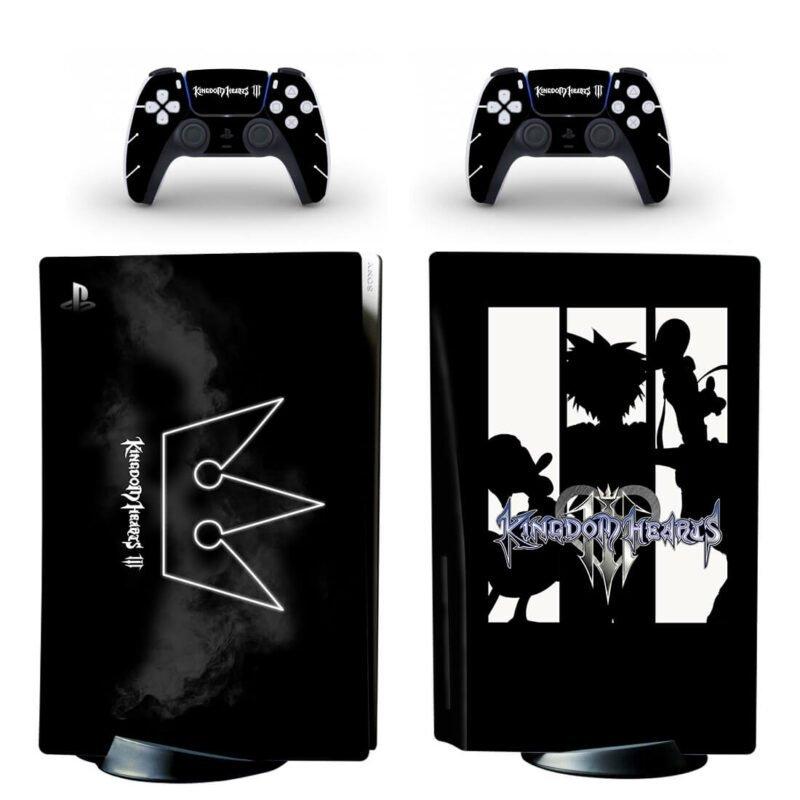 Kingdom Hearts 3 Black & White Silhouette PS5 Disk Skin