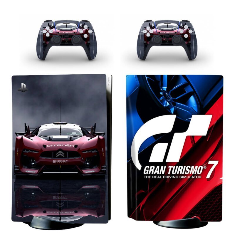Gran Turismo 7 Red Citroen Sports Car PS5 Disk Wrap