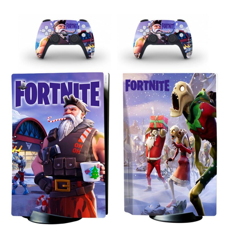 Fortnite Christmas General Claus PS5 Disk Skin Cover