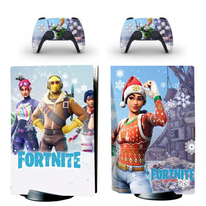 Fortnite Christmas Season Characters PS5 Disk Decal Cover