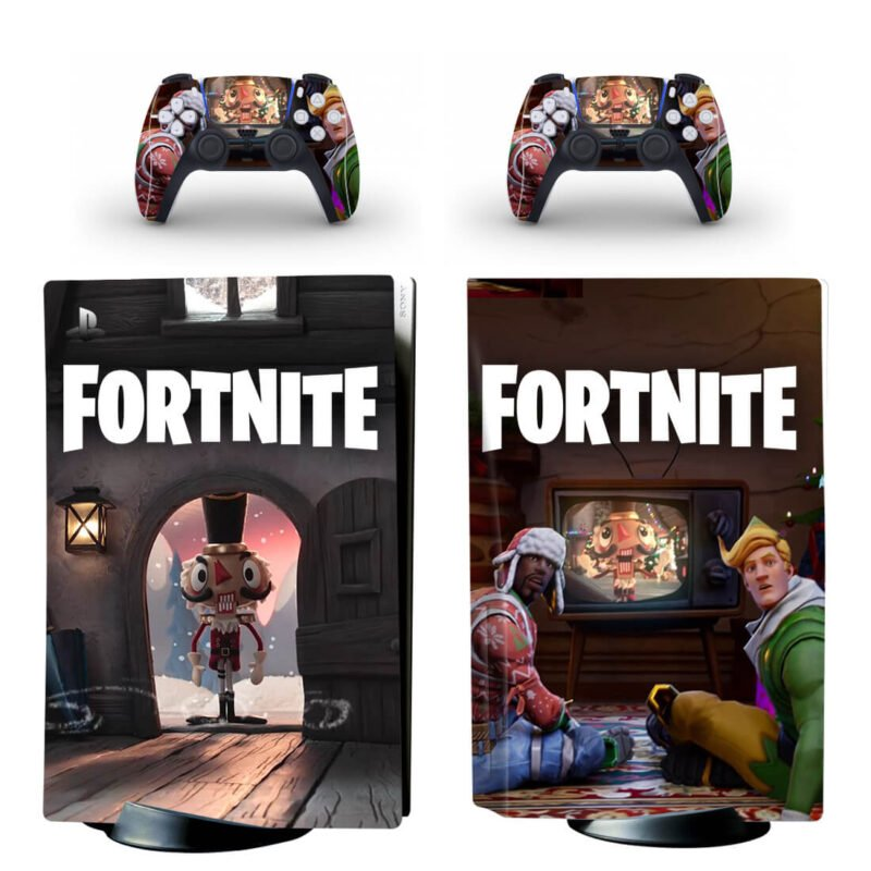 Fortnite Christmas Nutcracker Statue PS5 Disk Decal Cover