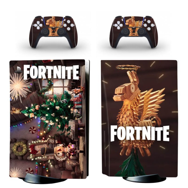 Fortnite This Christmas Season PS5 Disk Decal Cover