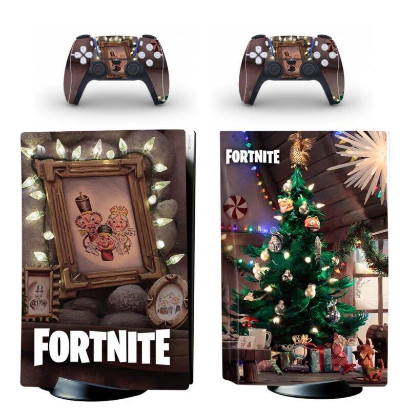 Fortnite Nutcracker Christmas Tree & Lights PS5 Disk Wrap