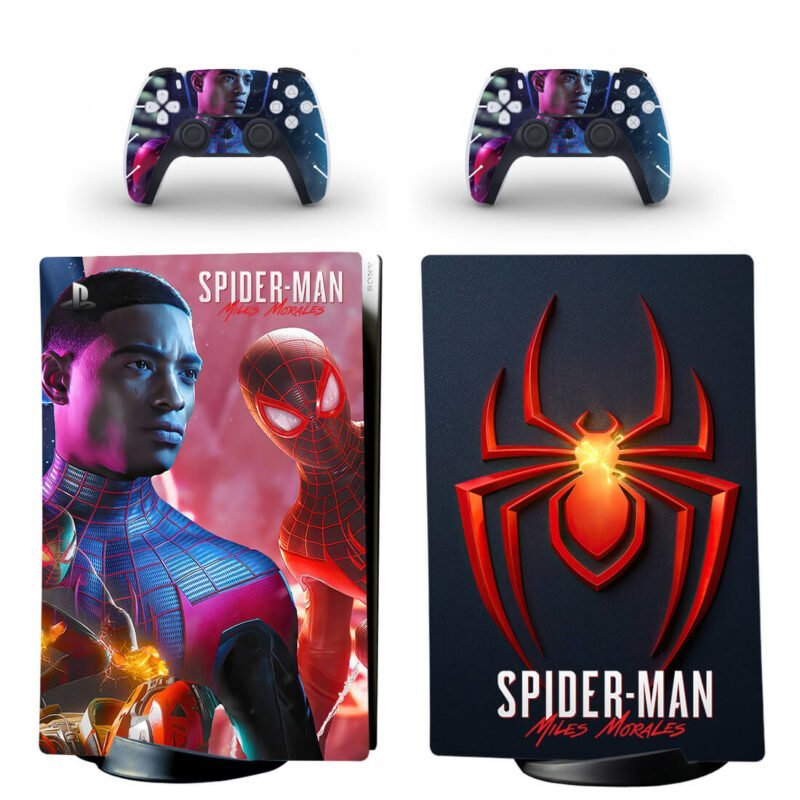 Spider-Man Miles Morales Video Game PS5 Digital Console Skin
