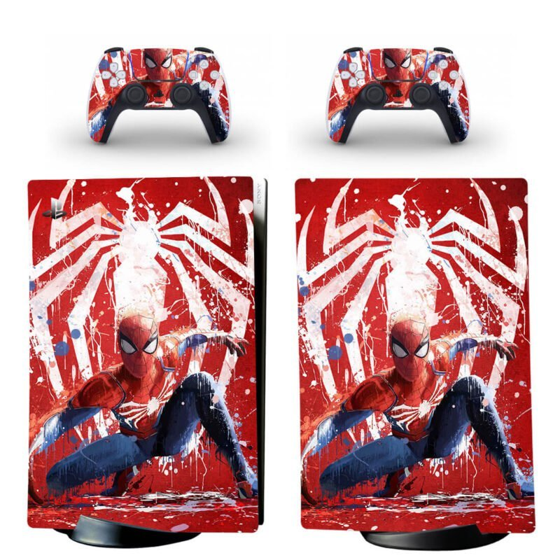 Spider-Man In Action Paint Drip Style PS5 Digital Decal Skin