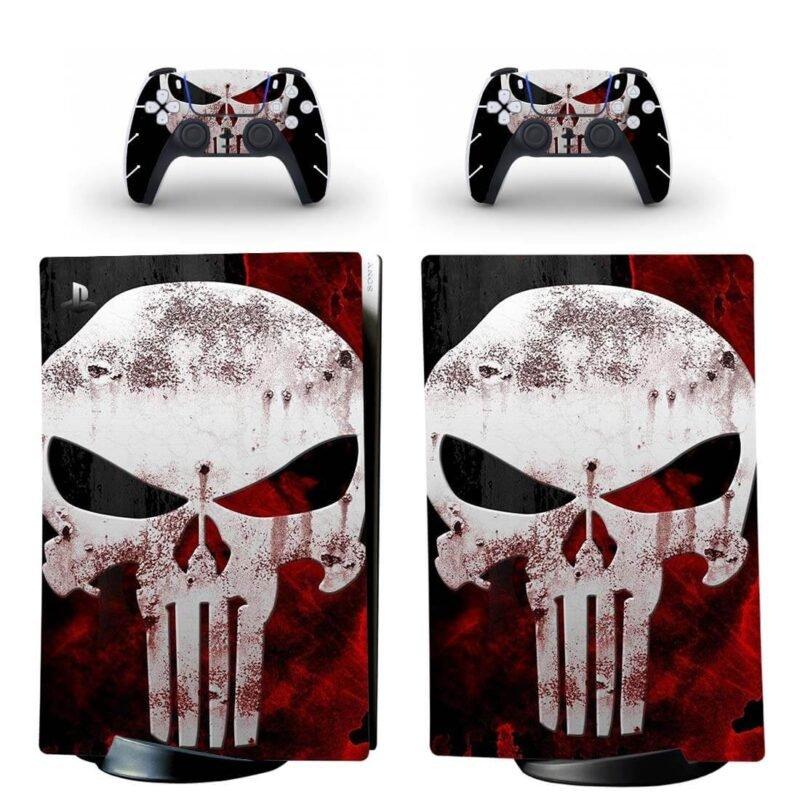 The Punisher Skull Logo Image PS5 Digital Console Skin