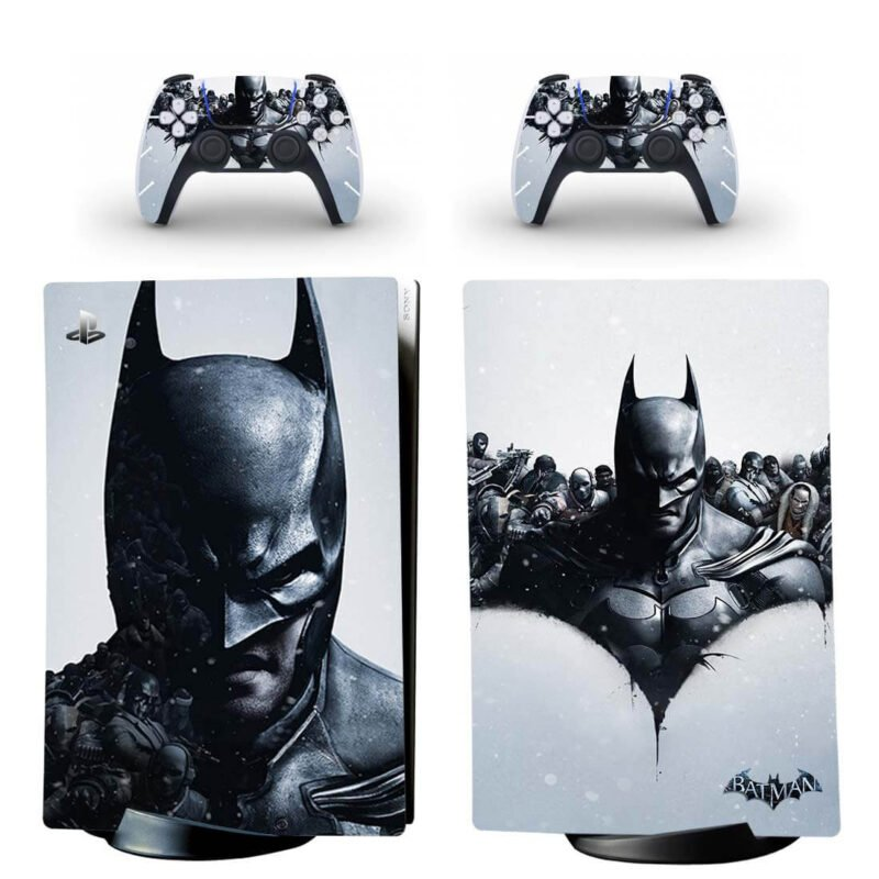Batman Arkham Origins Monochrome PS5 Digital Console Skin
