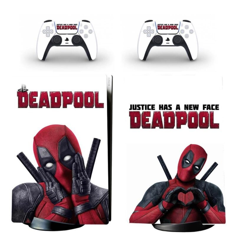 Deadpool Justice Has A New Face PS5 Digital Decal Skin