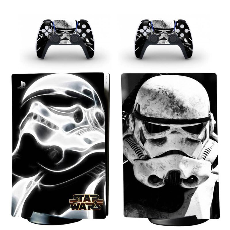 Star Wars Stormtrooper Black And White PS5 Digital Skin