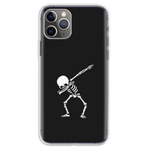 Dabbing Skeleton Minimalist Art Funny iPhone 12 Case