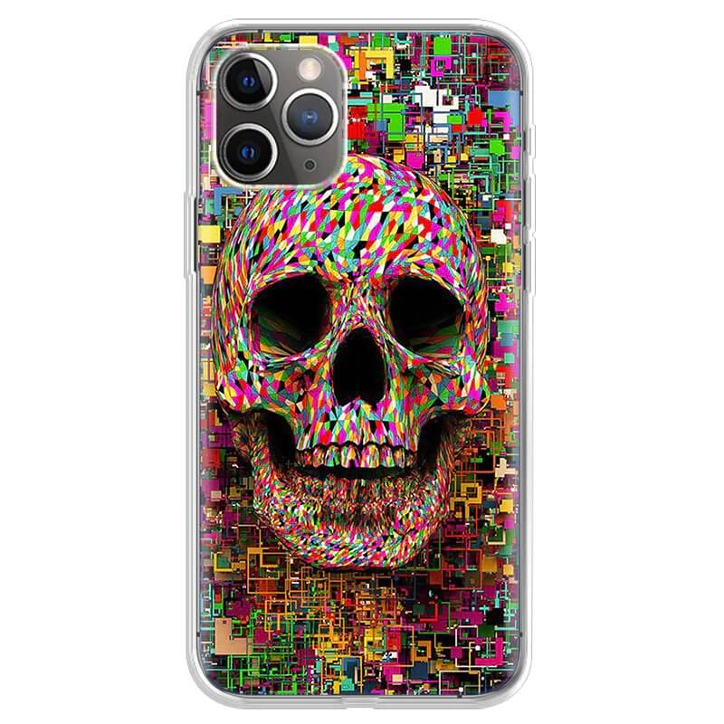 Colorful Geometrical Skull Pattern Dope iPhone 12 Case