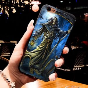 Grim Reaper In Blue Night Awesome Skull IPhone 12 Case
