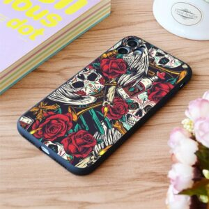 Day of The Dead Sugar Skulls Seamless Pattern iPhone 12 Case