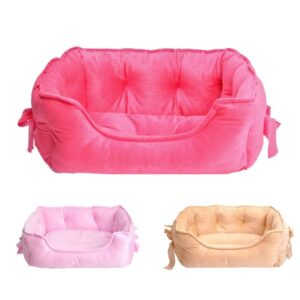 Adorable Bow Princess Warm Sofa Couch-Style Dog Bed - Woof Apparel