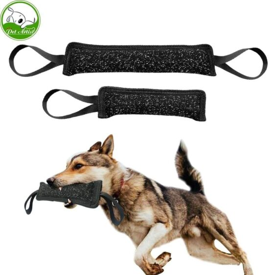 Dog Training Bite Tugs Puppy Chewing Training Aid Police K9 Schutzhund Tug Pet Interactive Play Toy Bite Suit Fabric - Woof Apparel