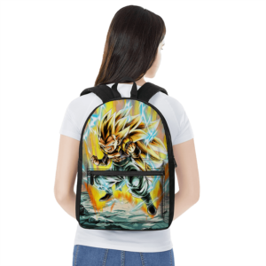 Dragon Ball Gotenks Super Saiyan 3 Powerful Canvas Backpack
