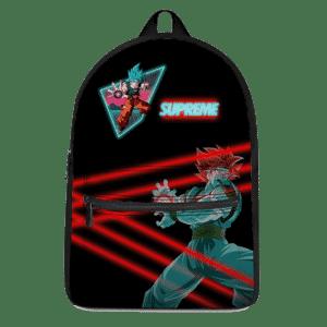 Dragon Ball Super Saiyan Blue Son Goku Supreme Neon Backpack