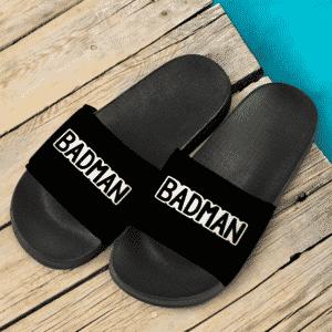 Dragon Ball Z Badman Vegeta All Black Minimalist Slide Sandals