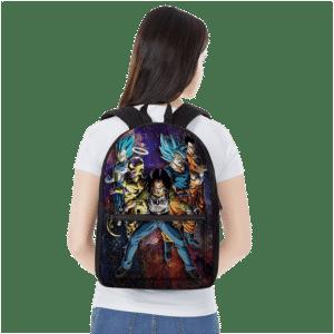 Team Universe 7 Teamwork Dragon Ball Super Galaxy Backpack
