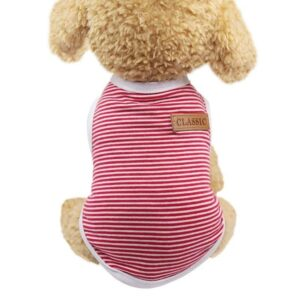 Striped Classic Badge Summer Comfy Outfit Dog Shirt - Woof Apparel