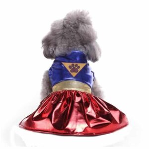 Cute Wonder Dog Paw Logo Party Costume for Dogs - Woof Apparel