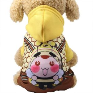 Sporty Bee Character Hoodie Warm Jumpsuit For Dogs - Woof Apparel