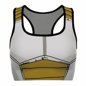 Vegeta Saiyan Armor Costume Dragon Ball Z Awesome Sports Bra
