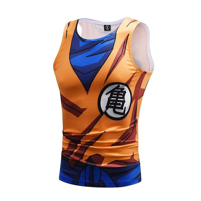 DBZ Goku Roshi Symbol Compression Tank Top