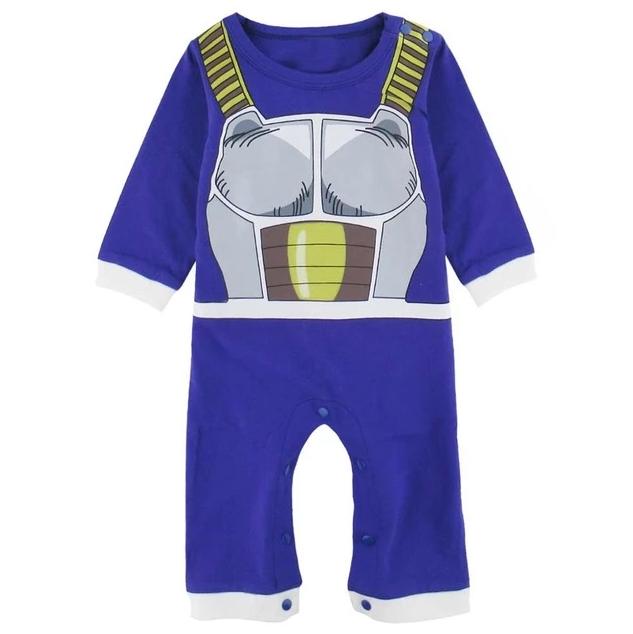 Dragon Ball Z Vegeta Armor Cosplay Long Sleeve Baby Jumpsuit