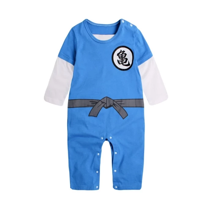 DBZ Epic Kanji Logo Designs Long Sleeve Cosplay Baby Jumpsuit