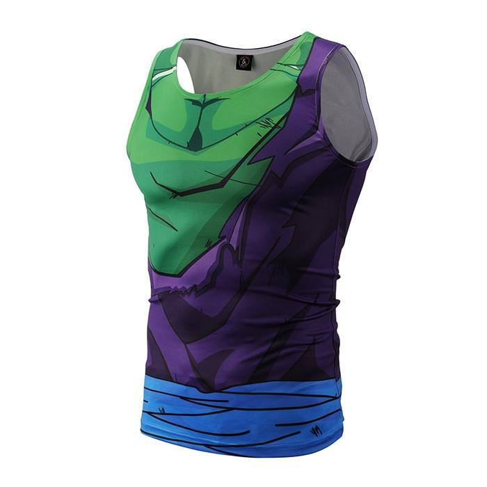 DBZ Piccolo Suit Torn Up Compression Tank Top