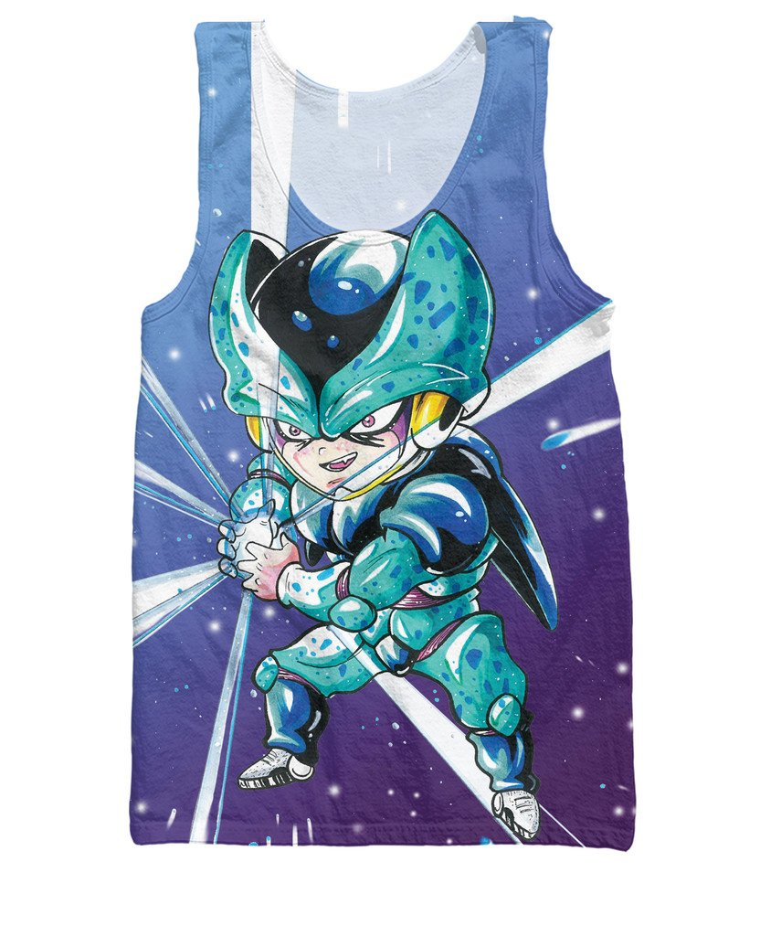 Cell Jr Special Edition Blue 3D Graphic HD Tank Top