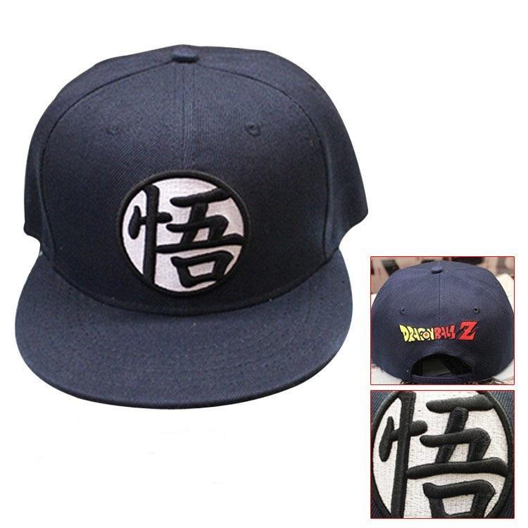Dragon Ball Cool Black Goku Hip Hop Snapback Hat Cap