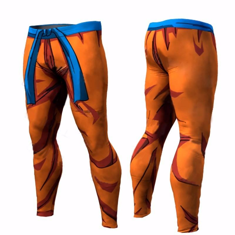 Dragon Ball Son Goku Orange Cool Fitness Gym Compression Leggings Pants