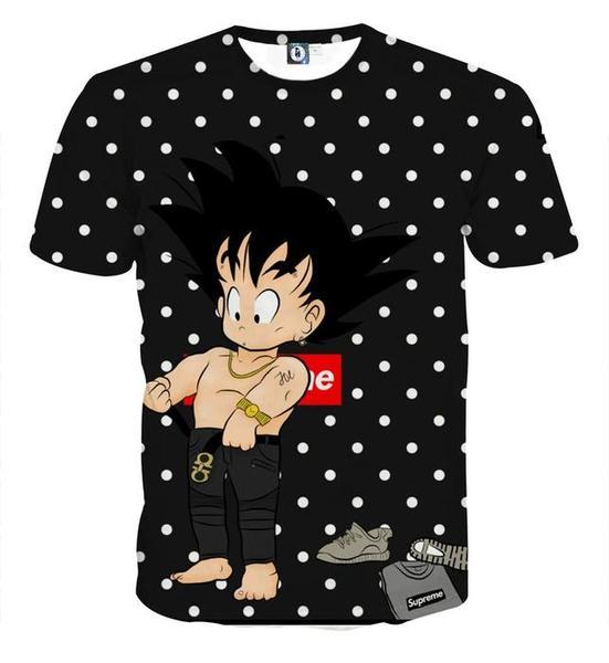 Dragon Ball Supreme Goku Kid Gangster Style Cool T-shirt
