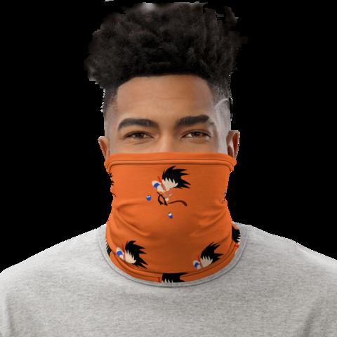 Dragon Ball Z Kid Goku Orange Face Covering Neck Gaiter