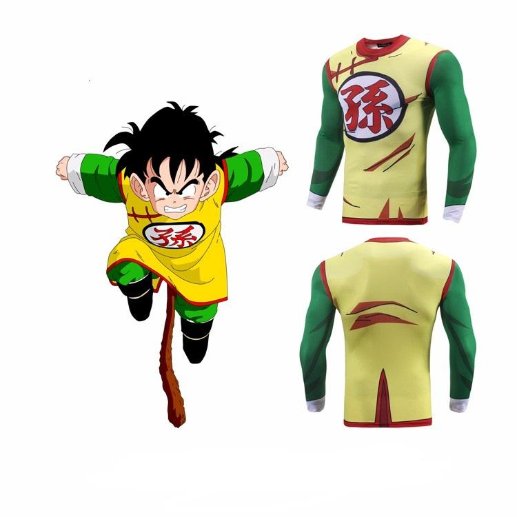 Gohan Costume Outfit Fitness Gear Workout Gym Compression 3D Shirt