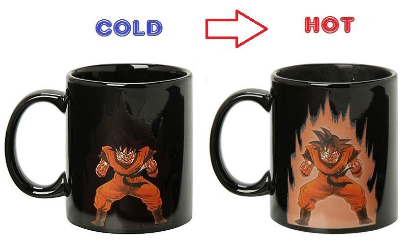 Heat Reactive Color Changing Goku Kaio-Ken Dragon Ball Mug