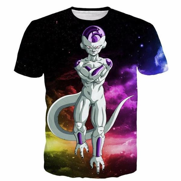 Mighty Frieza Flying Space Galaxy Swag Black Ultimate 3D T-Shirt
