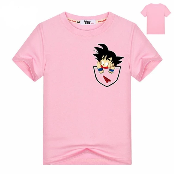 Dragon Ball Z Goku Coming Out From The Pocket Kids T-Shirt